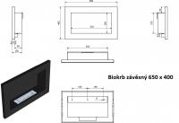 Biokrb závěsný 650 x 400 černá lesklá GM