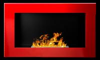 Biokrb závěsný 650 x 400 červená lesklá