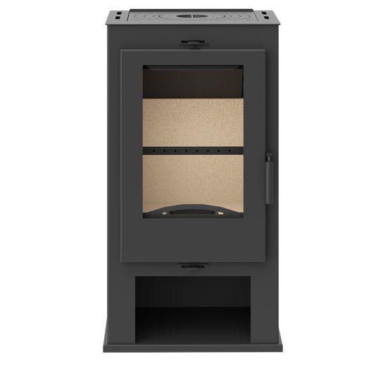 KFD Kasia černá - krbová kamna s plotýnkou KF Design