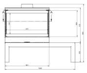 KFD STO Max 14 3F - kamna třístranné sklo KF Design