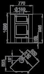 LERMA-H - rohová kamna s troubou Bronpi