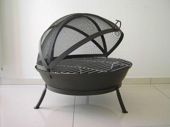 Litinové ohniště s grilem FUOCO BBQ Globe-Fire